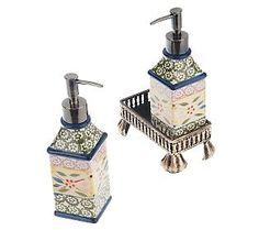 Temptations Confetti Soap and Lotion Dispenser.