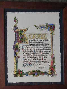 L'amour est édition limitée illuminé Print artiste par angelworx