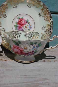 PARAGON Bone China Tea Cup Stuniing Floral by HoneyandBumble, $38.00