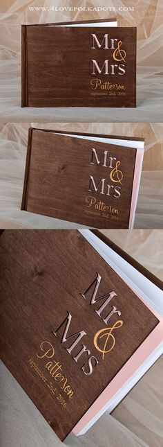Wooden Wedding Guest Book - Natural Wood, Custom Engraving #weddingideas #countrywedding #rustic