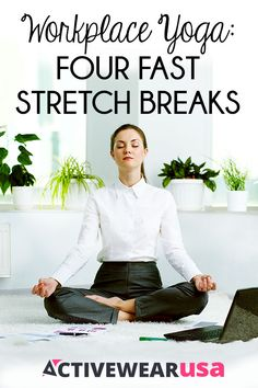 To stay healthy and mentally sharp, take a few breaks during a long day at work to stretch. These poses revive your body and reset your mind on the job. #yoga
