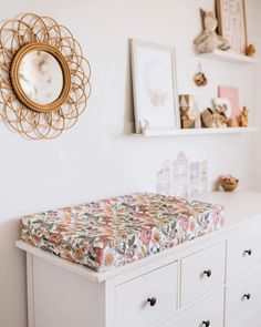 This gorgeous Australiana printFitted Bassinet Sheet can also be used as a Change Pad Coverandis made from snuggly softstretch cotton jersey. A beautiful way to style your nursery. Features include: All season fitted stretch jersey bassinet sheet Fits both rectangle & oval shaped mattresses Multipurpose use as Baby Bedroom, Baby Room Decor, Nursery Decor, Room Baby, Project Nursery, Nursery Ideas, Girl Nursery, Girl Room, Nursery Room