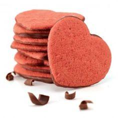 Chocolate Dipped Heart Shaped Moravian Sugar Cookies! The pe..