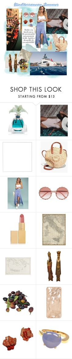 """Mediterranean Summer at Home"" by divinespiritcreations ❤ liked on Polyvore featuring Agraria, Menu, Madewell, LULUS, Dolce&Gabbana, AERIN, Jayson Home, Bulgari, Summer and mediterranean"