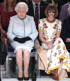 When the Queen of England and the queen of fashion (Anna Wintour) are found side by side at London Fashion Week it makes for quite the photo opp. #LondonFashionWeek via VOGUE INDIA MAGAZINE official Instagram - #Beauty and #Fashion Inspiration - Beautiful #Dresses and #Shoes - Celebrities and Pop Culture - Latest Sales and Style News - Designer Handbags and Accessories - International Advertising Campaigns - Gifts and Bargain #Shopping Guide - Famous Luxury Brands on Instagram - Trendsetters…