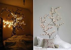 bedroom fairy lights idea