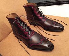 Caulaincourt shoes - Nomad - crazy red lines