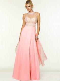 A-line Pink Chiffon Formal Dress Evening Dress/Prom Dress 2015 Parai 97052