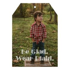 Be Glad. Wear Plaid Holiday Card - New Year's Eve happy new year designs party celebration Saint Sylvester's Day