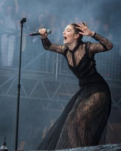 "8,056 Likes, 91 Comments - ranger dave (@outsidelands) on Instagram: ""#Lorde captivated the crowd at the Lands End Stage with a foggy set that included a surprise…"""