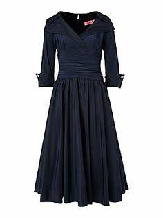 Eliza J 3/4 sleeve ruched waist dress