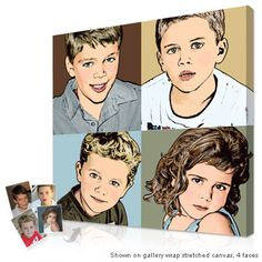 Warhol style custom portraits and gifts from your photos - Custom pictures in canvas from your photos | all pop art