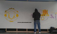 Graffiti artist at Football Events In the making.. www.streets-united.com