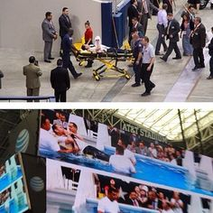 A brother at the Spanish International Convention in Arlington, Texas was transported from the hospital to the convention on a stretcher. It took four brothers to bring him and his stretcher into the baptismal pool.<==== Only in Jehovah's organization do you see & feel this love!