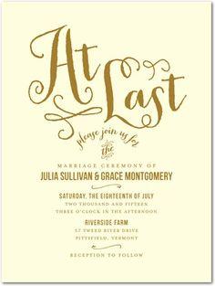 Foil Stamping Wedding Invitations Lasting Impression Front Gold Invitation Design Bridal