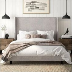 Beautiful Home Decor, Beautifully Priced - Alrai Upholstered Panel Bed, Informat. - Beautiful Home Decor, Beautifully Priced – Alrai Upholstered Panel Bed, Informations About Beauti - Modern Master Bedroom, Contemporary Bedroom, Home Bedroom, Bedroom Furniture, Single Bedroom, Bedroom 2018, Bedroom Small, Modern Furniture, Beds Master Bedroom