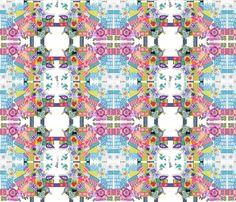 collage fabric by lita_blanc on Spoonflower - custom fabric
