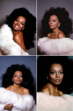 Diana Ross of all her daughters Rhonda looks more like her. Divas, Vintage Black Glamour, Vintage Beauty, Vintage Makeup, Vintage Fashion, Dona Summer, My Black Is Beautiful, Beautiful People, Diana Ross Supremes