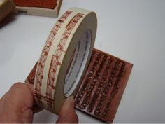 Make your own Washi tape—smart ▪ easy ▪ cheap idea—this technique could likely be used with many types of tape❣