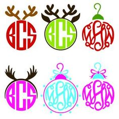 Featuring three Fun Christmas Jolly Bulb with Antlers on Hangers Monogram Round Circle Frames Cuttable Design Cut File. Vector, Clipart, Digital Scrapbooking Download, Available in JPEG, PDF, EPS, DXF and SVG. Works with Cricut, Design Space, Sure Cuts A Lot, Make the Cut!, Inkscape, CorelDraw, Adobe Illustrator, Silhouette Cameo, Brother ScanNCut and other compatible software.