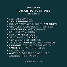 Having fun with this romantic series! Not all of these listed should resonate with you within your type. Then we'd be robots. Relationship Psychology, Interpersonal Relationship, Psychology Facts, Online Personality Quizzes, Personality Types, Enfj T, Infp, Introvert, Enneagram Type 3