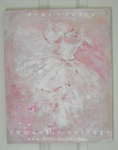 my Tutu and Roses Painting now available at www.debicoules.com
