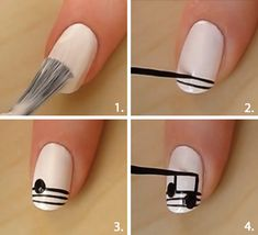 How to: Festival nagels - Beauty - Styletoday.nl > Nagellak; alles over nagels, nailart, nagellaktrends, french manicure - Beauty - Styletoday  decoracion de notas musicales