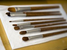 """I finally invested in a nice eyeshadow brush from Sephora, and you guys, I still haven't washed it. It's been months. The poor thing has gone from gold glitter to dark brown eyeshadow and back again, and the only """"cleaning""""it's ever received is a vigorous brushing against the back of my hand to"""