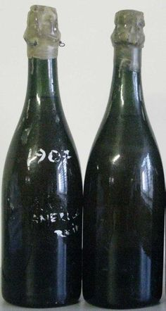 Champagne bottles found on the Titanic