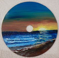 Oil Painting on a recycled DVD