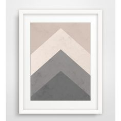 Geometric Print, Grey and Beige Wall Art, Brown Printable Geometric... (€8,72) ❤ liked on Polyvore featuring home, home decor, wall art, mounted wall art, grey home decor, geometric wall art, outside home decor and mountain wall art