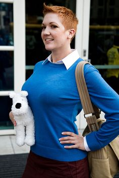 Gender bent Tintin.  Via BestofCosplay.tumblr.com