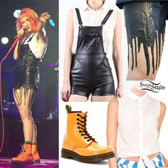 Hayley Williams: Leather Overalls, Drip Tights