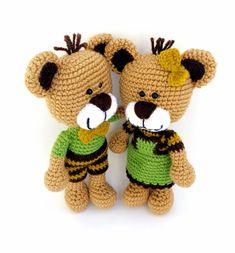 #horgolt #macipár / #crochet #teddybear #couple