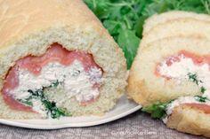Rotolo salato con Salmone, ricotta e rucola