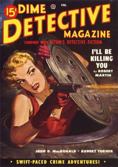 Dime Detective Magazine 1950 02 by vintageillu, via Flickr