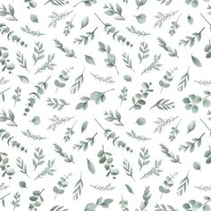 This delicate design featuring different types of foliage in shades of grey and green is a lovely choice for a baby nursery, child's bedroom or the home. Watercolor Pattern, Watercolor Flowers, Paper Background, Background Patterns, Diy Mobile Cover, Baby Record Book, Flower Video, Nursery Wallpaper, Wallpaper Art