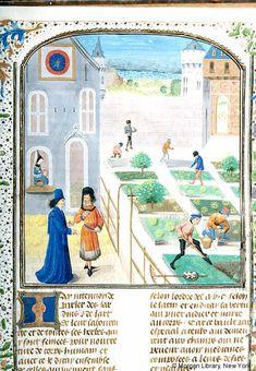 Medieval Manuscript Images, Pierpont Morgan Library, Livre des prouffis champestres et ruraux. MS M.232 fol. 157r