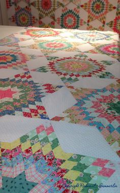 Blooming In Chintz: Sunday in the Studio--star quilt, pattern not available but measurements given in comments.