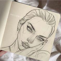 Art Drawings Sketches Simple, Pencil Art Drawings, Cool Drawings, Arte Sketchbook, Sketchbook Ideas, Sketchbook Inspiration, Sketch Painting, Cartoon Art Styles, Aesthetic Art