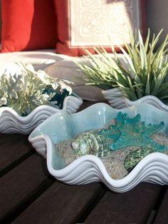 Set of 3, Ceramic Scalloped Sea Shell Nesting Bowls on Etsy, $62.00