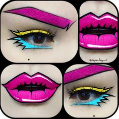 In each post, @depechegurl applies lipstick with such precision and accuracy, the lips seem to be naturally born with that colour. More pop art makeup: http://blog.furlesscosmetics.com/depeche-gurl/