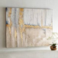 Wall Art gray and gold - Google Search