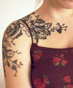 This shows how i like the design to come over the shoulder on to the arm. I wouldnt want it to go too low, though.