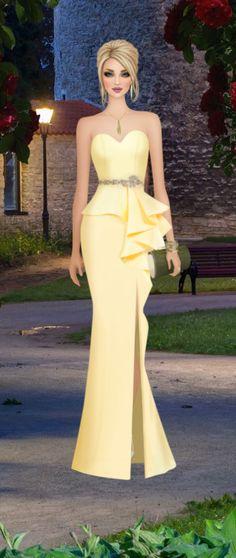 Golden Rose Covet Fashion, Fashion Beauty, Womens Fashion, Fashion Design, Fashion Dress Up Games, Fashion Dresses, Evening Dresses, Prom Dresses, Formal Dresses