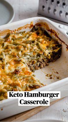 Beef Recipes, Cooking Recipes, Easy Keto Recipes, Skinny Mom Recipes, Paleo Casserole Recipes, Keto Casserole, Healthy Low Carb Recipes, Healthy Food, Recipes