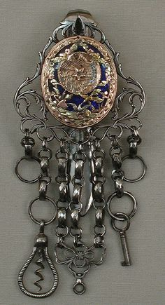 Chatelaine with calendar  Date: probably late 18th century  Culture: French  Medium: Steel, enameled gold  Classification: Metalwork  Credit Line: Gift of Joseph G. Reinis, 2011