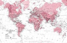 pink-and-white-world-map-maps-plain