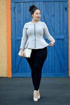 Molliger Street-Style mit Peplum Top - Bilder - Jolie.de