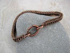 Men's Chain Bracelet Men's Copper Bracelet Unisex by Arret on Etsy